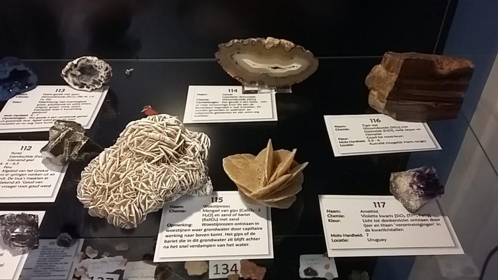 Detail mineralen collectie